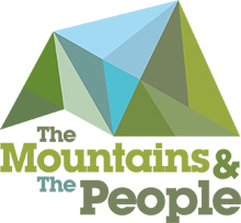 mountains and people logo